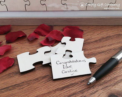 92 pcs Wedding jigsaw personalised Puzzle Guest book including free frame.