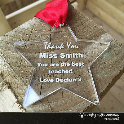 Teacher Gift Star - Personalised thank you End of Term, Leaving Present