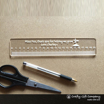 Unique Teacher Gift - Personalised Acrylic Ruler - End of term gift