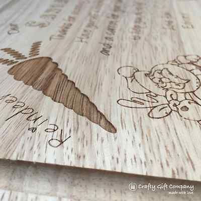 Personalised Santa/Father Christmas Wooden Platter