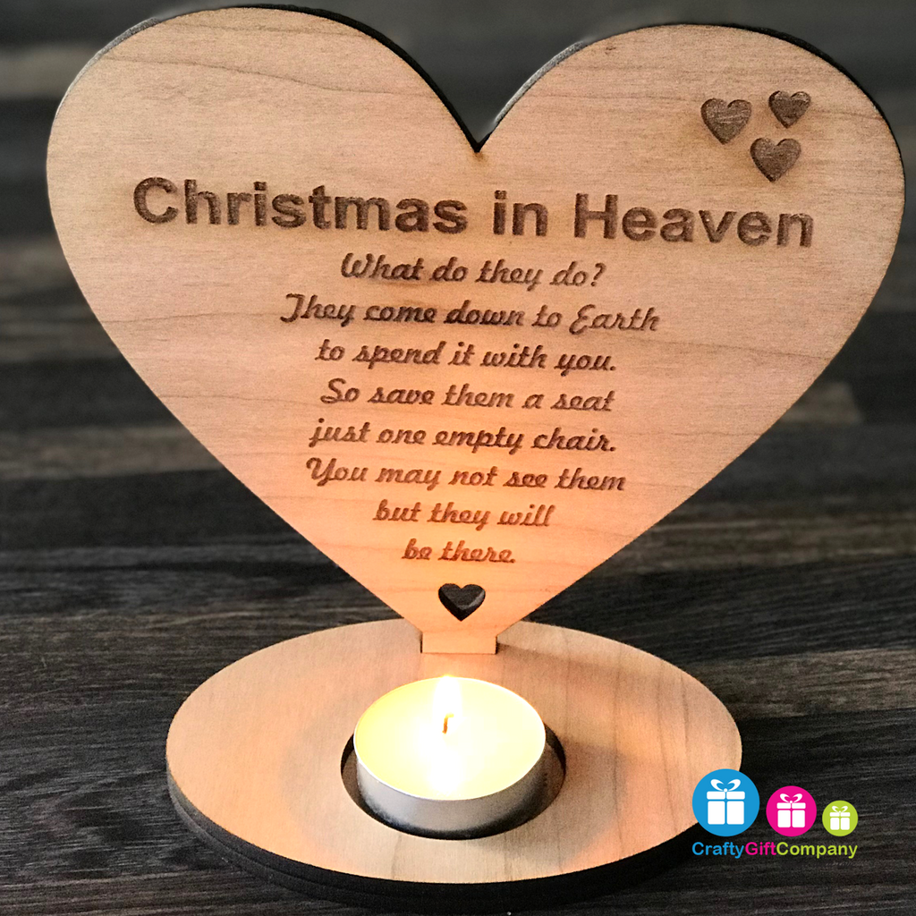 Christmas In Heaven What Do They Do.Christmas In Heaven Reme Heart Candle Holder Sign