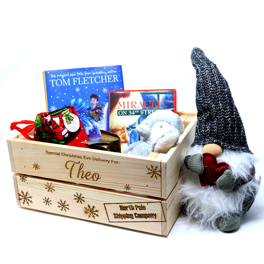 Wooden Christmas Eve Box Crate