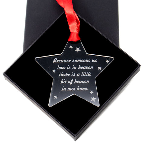 Memorial poem bauble - Acrylic Tree ornament decoration