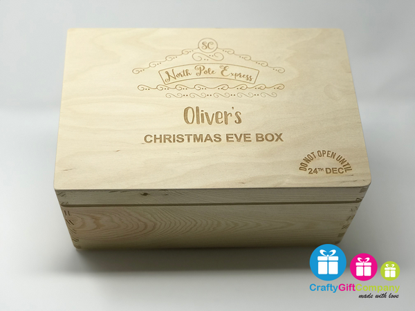 Wooden Christmas Eve Box & Free Santa Key (Polar Express)