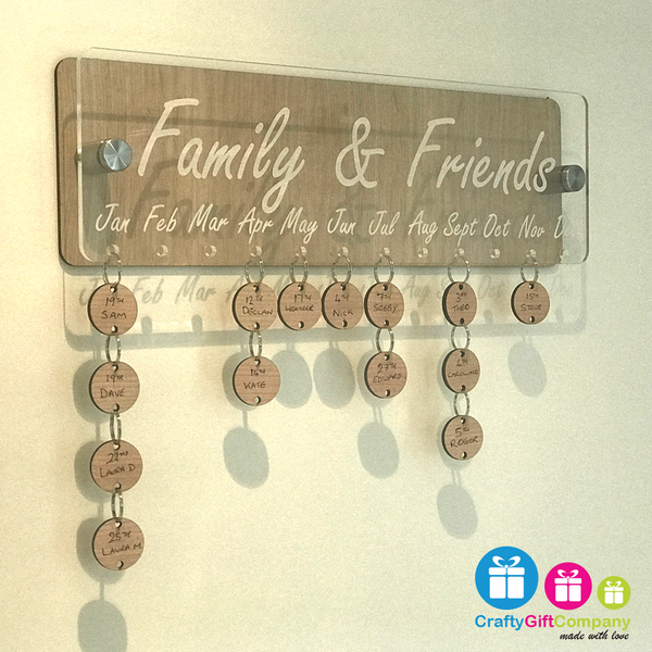 Family & Friends Anniversary / Birthday board.