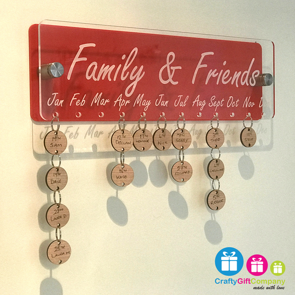 Family & Friends Anniversary / Birthday board Two For £60