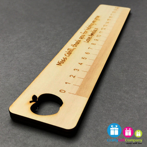 Personalised Wooden Apple Ruler - Wood