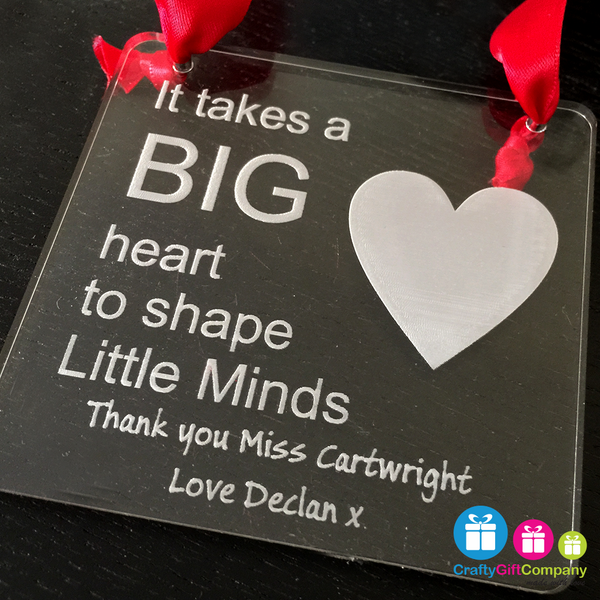 Personalised thank you Plaque / Coaster , End of Term, Leaving Present