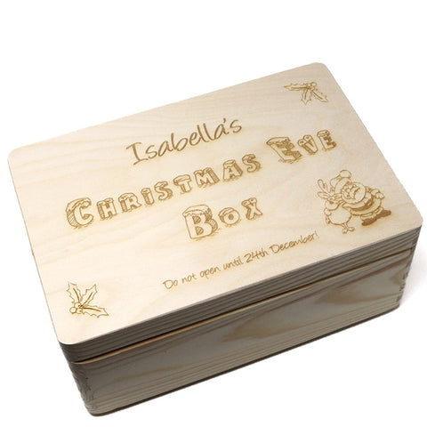 Wooden Christmas Eve Box & Free Santa Key
