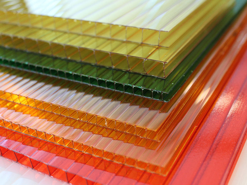 Different colors of Polycarbonate that can be used as greenhouse insulation