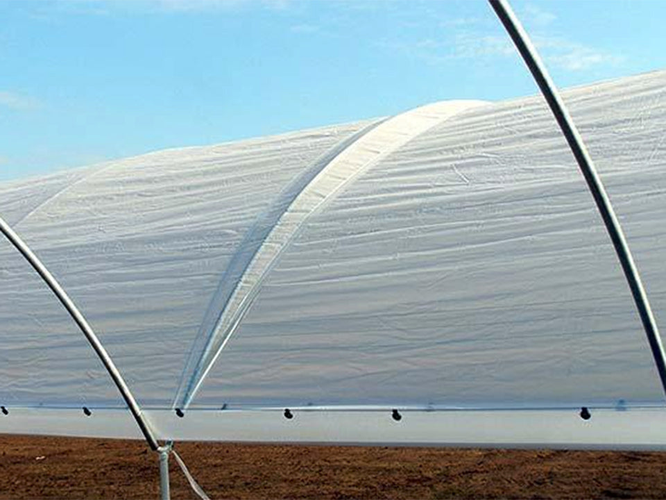 Polyethylene cover on a greenhouse