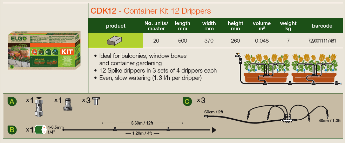 Genesis 12 Dripper Watering Kit (RSI-CDK12)