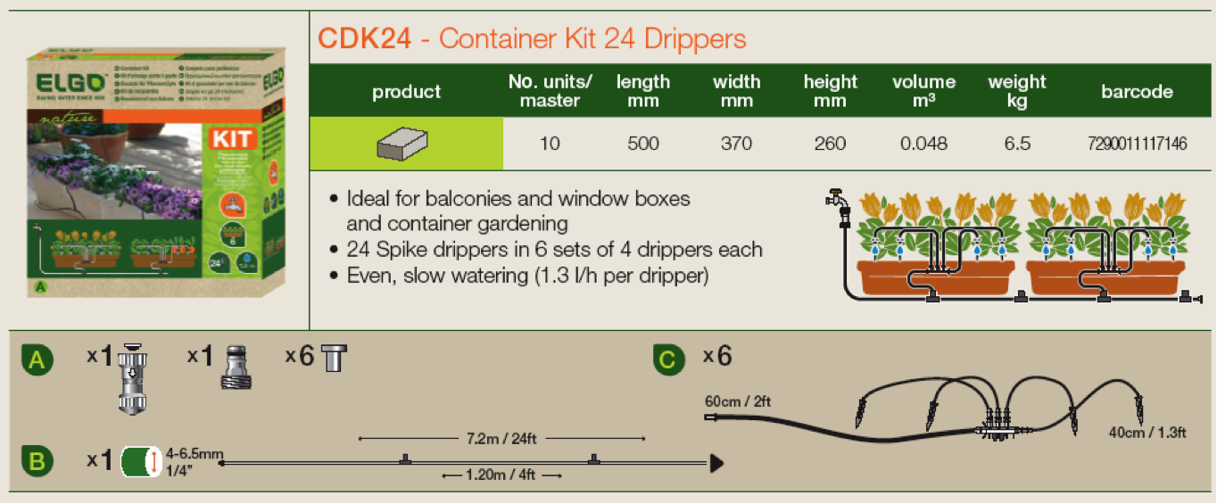 Genesis 24 Dripper Watering Kit (RSI-CDK24)
