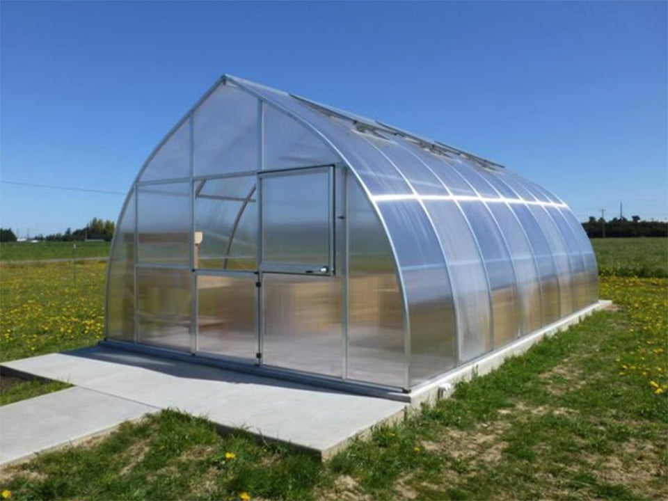 Riga XL Greenhouse with raised beds inside