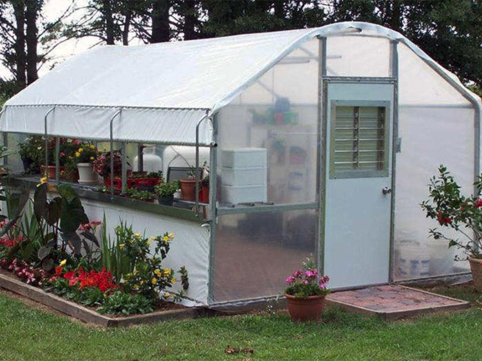 Fully set up Riverstone Industries Carver Educational Greenhouse