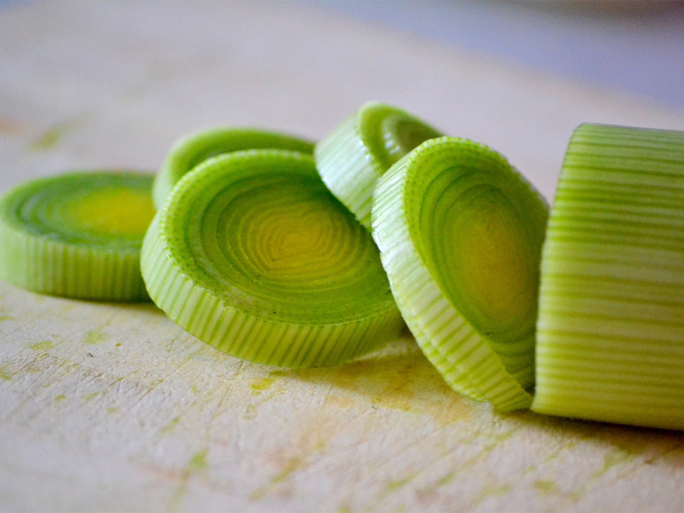 Sliced Leek Stalk