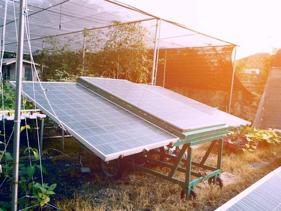 Solar Powered Greenhouse set up