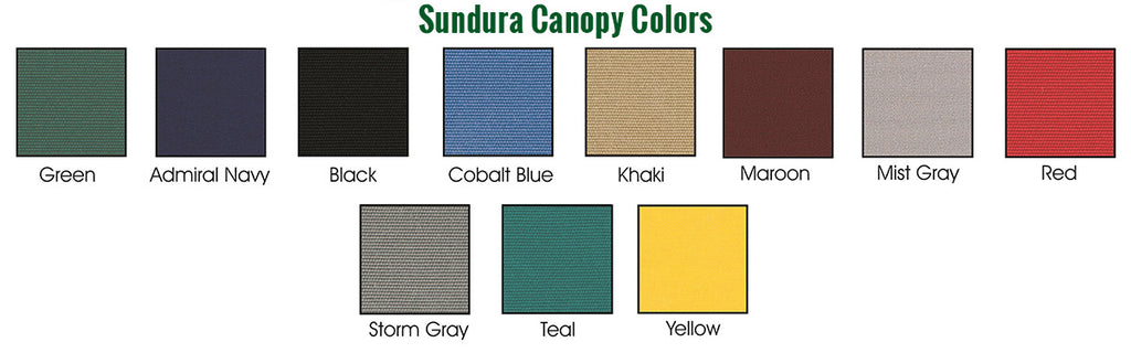 Sundura conopy colors for the Acacia gazebo
