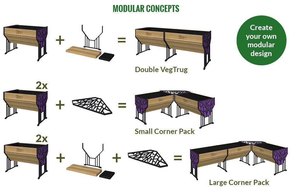 Modular Concepts of the VegTrug Liberty Raised Bed Planter