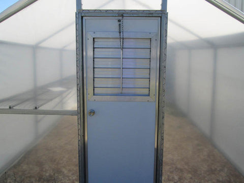 Image of Riverstone Industries (RSI) 10ft x 16ft Carver Educational Greenhouse  R1016-P - insulated metal security door