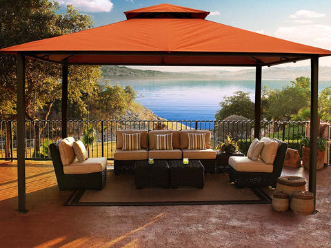 Kingsbury Gazebo with Rust Sunbrella Top