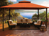 Image of Kingsbury Gazebo with Rust Sunbrella Top