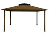 Image of Bare Kingsbury Gazebo with Cocoa  Top