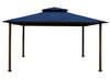 Image of Bare Kingsbury Gazebo with Navy Top
