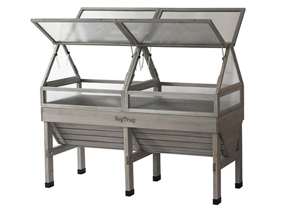 Small, Grey color, Open Cold Frame for VegTrug Planter