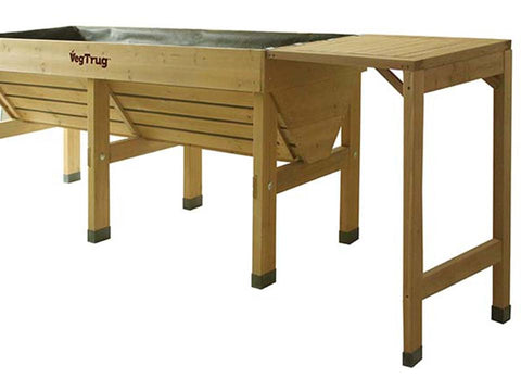 Image of Natural Color VegTrug Classic Side Table attached to a raised bed