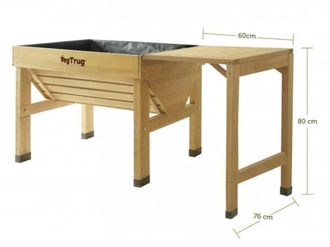 Image of Natural Color VegTrug Classic Side Table Dimensions