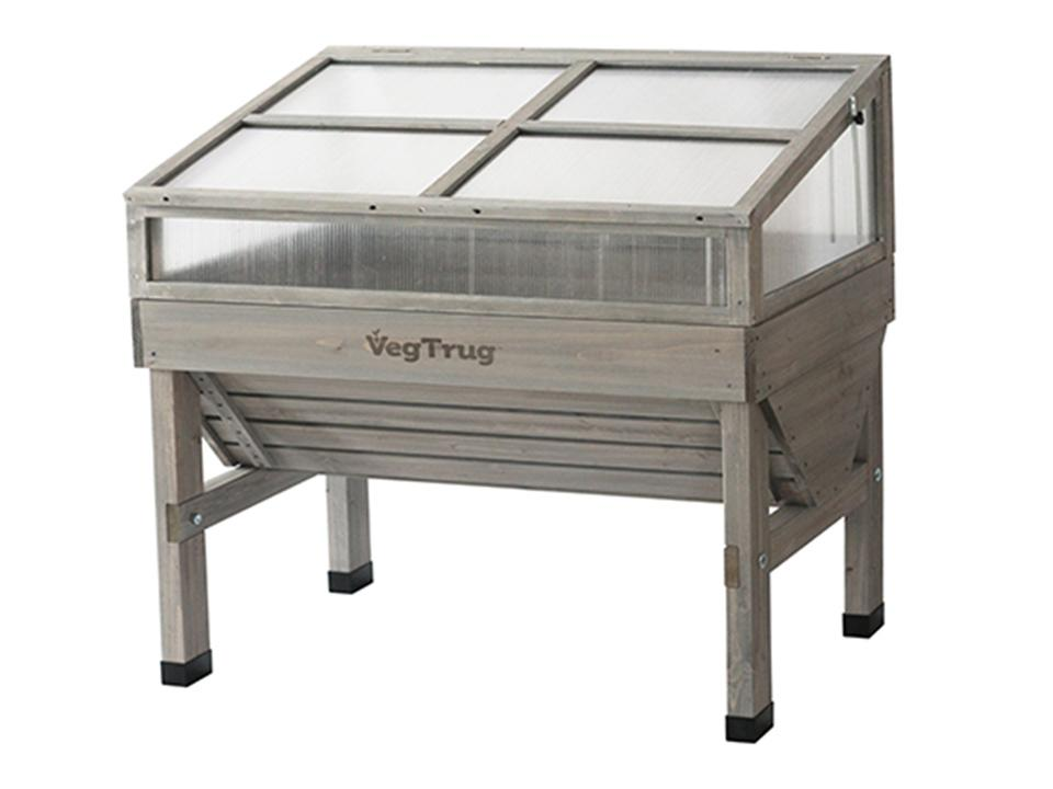 Small, Grey color Cold Frame for VegTrug Planter