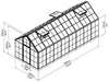 Image of Palram 6ft x 16ft Snap & Grow Hobby Greenhouse - dimensions