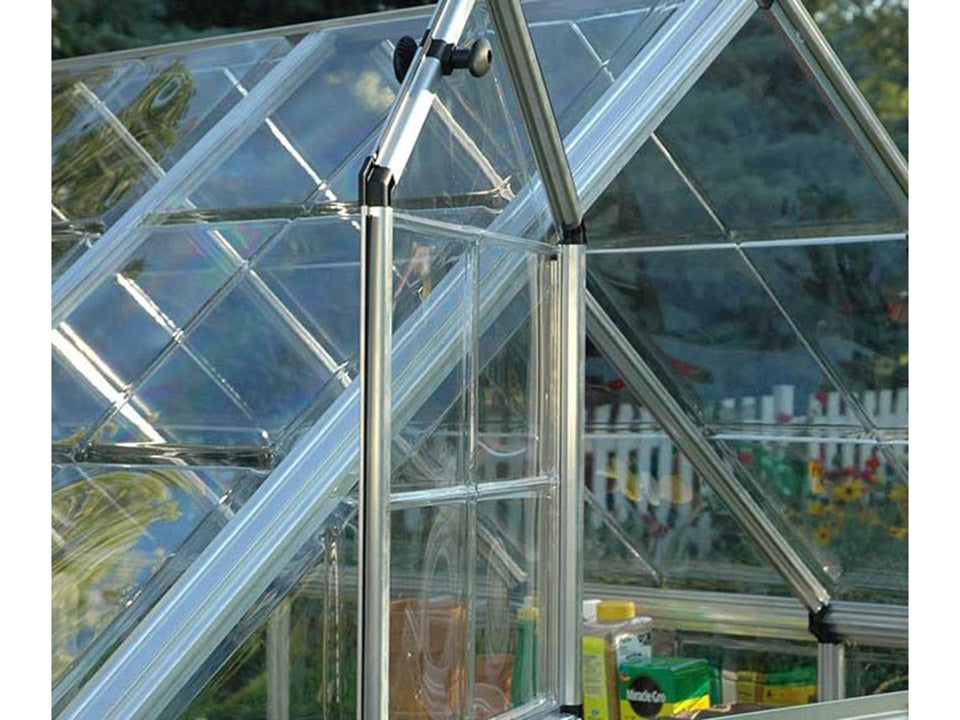 Palram 6ft x 16ft Snap & Grow Hobby Greenhouse - open window