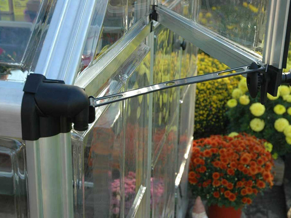 Palram 6ft x 16ft Snap & Grow Hobby Greenhouse - window opening