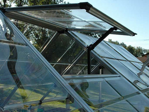 Image of Palram 6ft x 16ft Snap & Grow Hobby Greenhouse - open roof vent