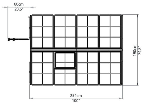 Image of Palram 6ft x 8ft Snap & Grow Hobby Greenhouse - dimensions