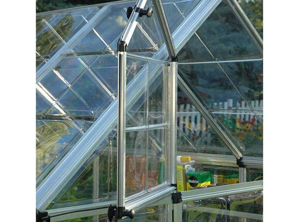 Palram 6ft x 8ft Snap & Grow Hobby Greenhouse - open window