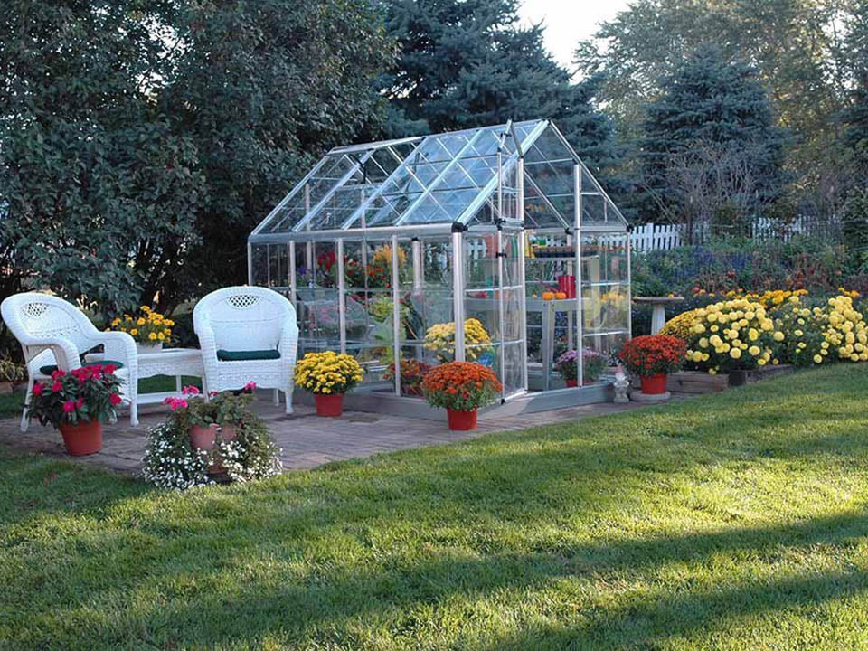 Palram 6ft x 8ft Snap & Grow Hobby Greenhouse - in a garden set up