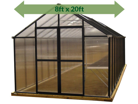 Riverstone Monticello Greenhouse 8x20 - Premium Package
