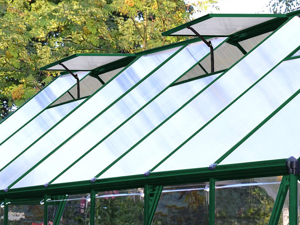 Palram 8ft x 12ft Balance Hobby Greenhouse - HG6112G - two adjustable roof vents
