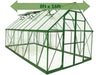 Image of Palram 8ft x 16ft Balance Hobby Greenhouse - HG6116G - white background - with arrow on top
