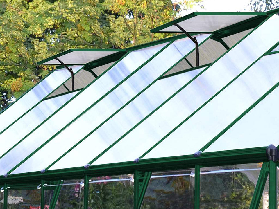 Palram 8ft x 16ft Balance Hobby Greenhouse - HG6116G - adjustable roof vents