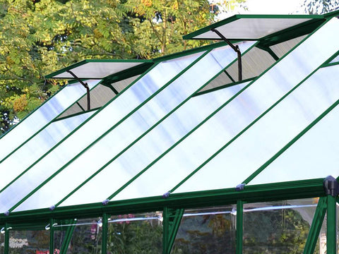 Palram 8ft x 20ft Balance Hobby Greenhouse - HG6120G - open roof vents