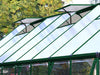 Image of Palram 8ft x 20ft Balance Hobby Greenhouse - HG6120G - open roof vents