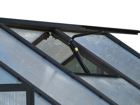 Image of Riverstone Monticello Greenhouse 8x16 - Premium Package - roof vent with automatic opener