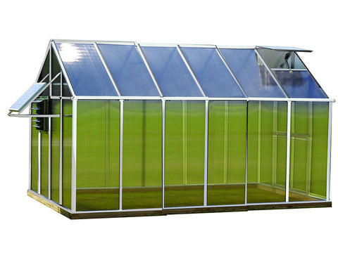 Image of Aluminum Riverstone Monticello Greenhouse 8x12 - Mojave Package - white background