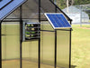 Image of Riverstone Monticello Greenhouse 8x16 - Mojave Package - installed solar ventilation system