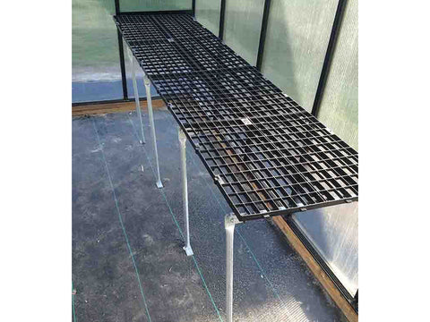 Image of Riverstone Monticello Greenhouse 8x20 - Mojave Package - commercial workbench