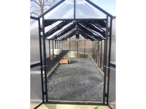 Riverstone Monticello Greenhouse 8x20 - Premium Package - with shade cloth